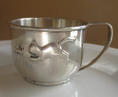 Baby Child's Collectible Cup Stainless Steel Denmark Cat & Mouse Motif 2""