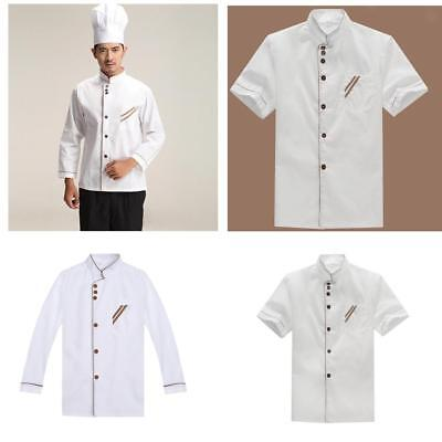 Chef Uniform Restaurant Chefs Jacket Clothing Suits Coat Long/Short Sleeves