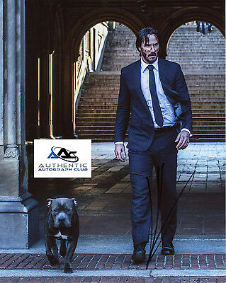 KEANU REEVES AUTOGRAPH SIGNED 8x10 JOHN WICK PHOTO COA