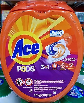 ACE 3 in 1 Pods Washer Detergent - Frescura Primaveral Scent 90 Pacs