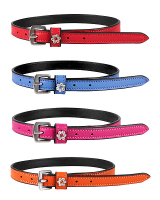 Spur straps Leather with Rhinestone QHP