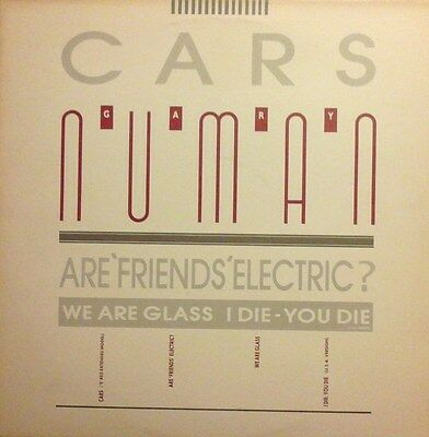 "Gary Numan - Cars / Are 'friends' Electric? + 2 Uk 12"" Vinyl Single Nm/nm"