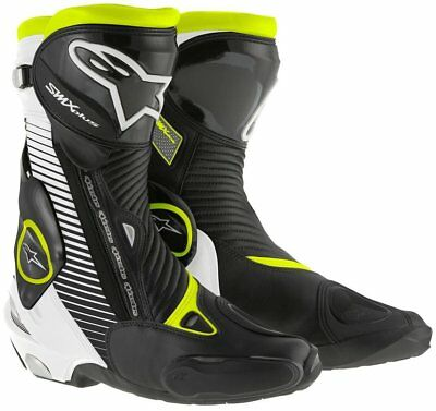 NEW Alpinestars SMX Plus Boots Black/White/Fluro from Moto Heaven