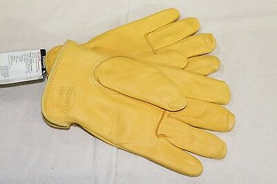 3M Thinsulate Grain Deerskin Leather Insulated Lined Winter Work Gloves Medium
