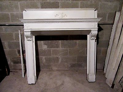 ~ Antique Carved Oak Fireplace Mantel ~ 43 Inch Opening  ~ Architectural Salvage
