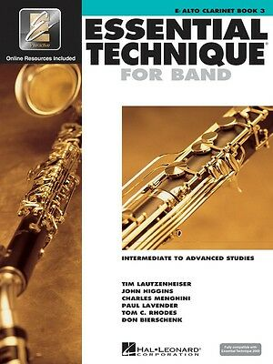 Essential Technique For Band - Eb Alto Clarinet - Book 3 with EEi