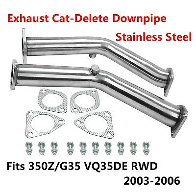 TEST PIPES DECAT Non Reson Straight Exhaust FITS Nissan 350z