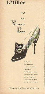1948 I. Miller~Victoria Pump Women's Shoes Vintage 1940s Fashion Style Print Ad