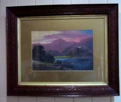 Antique Oil Painting , ' Mersey River , Tasmania' , by A Fitzroy , early 1900's