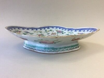 19th C. Chinese Tongzhi Bowl - Decorated with Flowers Bats and Peach