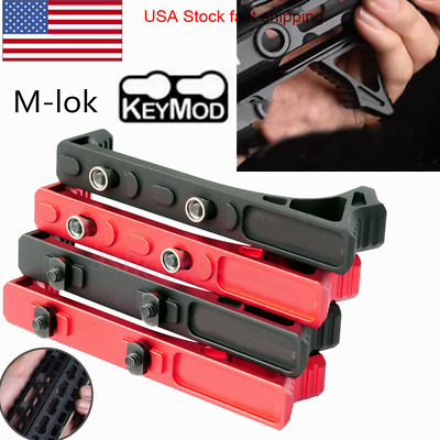 LINK Curved Angled Foregrip Front Grip For KeyMod/M-lok Handguard Rail Black Red