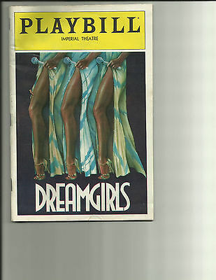Dreamgirls Playbill August 1983 Imperial Theater