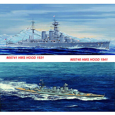 Trumpeter 05740 05741 1/700 HMS HOOD 1941/1931 Battleship Assembly Model Kits