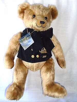 "Harrods Millennium 2000 TEDDY BEAR with original tag 18"" tall"