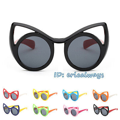 Cat Ear Shape Eco-friendly Children Kids Boys Girls Polarized Sunglasses UV400