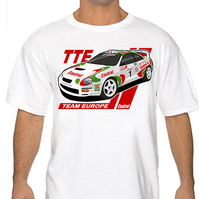 Classic Celica Toyota Team europe Rally T Shirt White or Gray GT-Four ST205 Wrc
