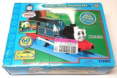 Thomas the Tank Engine Steam Along Thomas + Water Tower - 2 TRAIN SETS - Tomy
