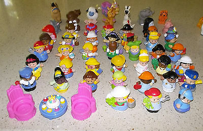 33 Fisher Price Little People Figures - People & Animals - Good Condition