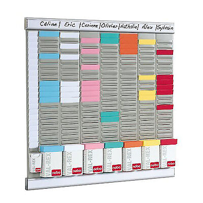 Office Wall Mounted Organiser Planning Kit Clocking In/Out Card Holder Board