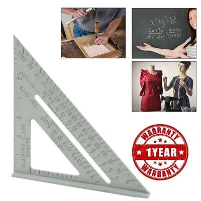 """Aluminum Alloy Triangle Ruler 7""""Roofing Rafter Square Speed Metric System"""