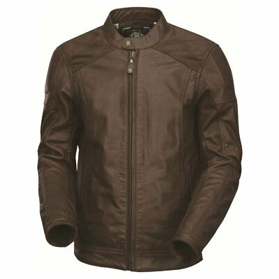NEW Roland Sands Carson Leather Jacket Brown from Moto Heaven