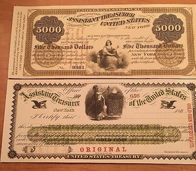 Reproduction  Paper Money 1880 9PC Legal Tender Set US Currency Copy Notes