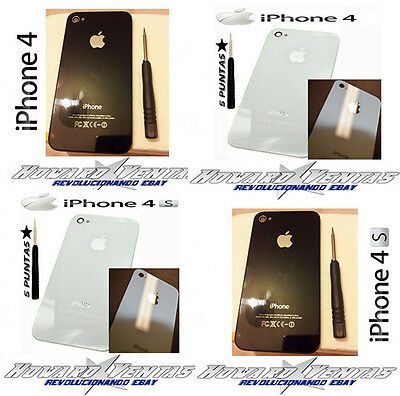 Cover Rear Original iPhone 4 4S Battery Glass Screwdriver Black White