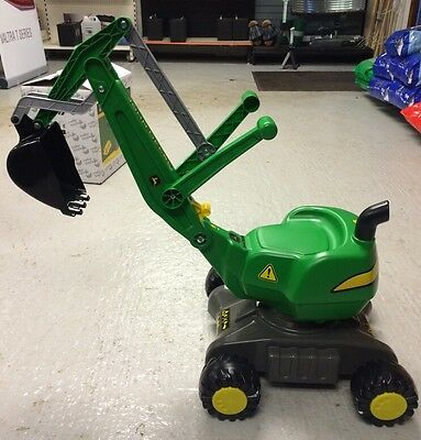 John Deere Rolly Digger Kids Ride On Ages 3-5 On Wheels 360 Degree Turn