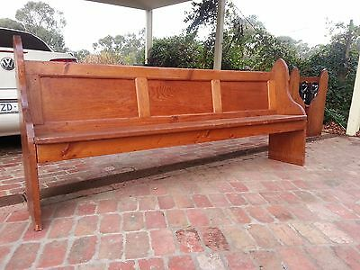 church pew / chair / bench seat antique