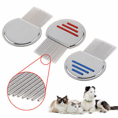 New Pet lice nit comb get down to NIT FREE stainless steel metal head and teeth