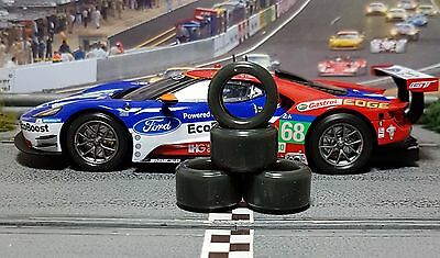 1/32 URETHANE SLOT CAR TIRE 2pr PGT-20125LMXD NEW SIZE fits Carrera Ford GT