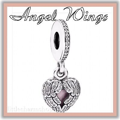 PANDORA ALE S925 Sterling Silver Angel Wings Locket Charm 791737CZ New Authentic
