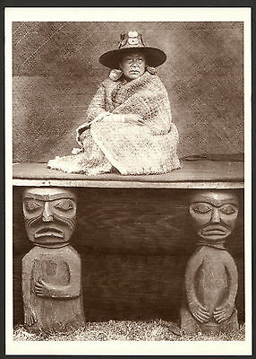 A Nakoaktok Chief's Daughter - American Indian - Reproduction Photo Postcard