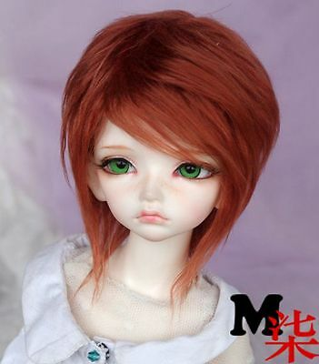 "6-7"" 16-17cm BJD fabric fur wig Red Brown hair for 1/6 BJD YOSD DZ-BB AF-BB"