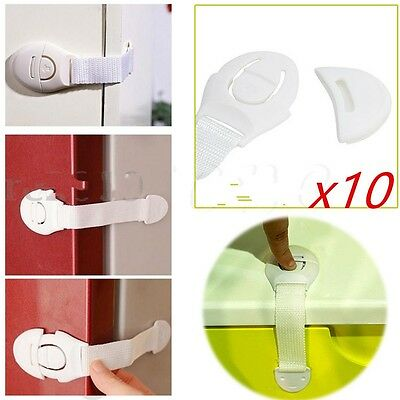 1/5/10X Child Infant Baby Kids Drawer Door Cabinet Cupboard Toddler Safety Locks