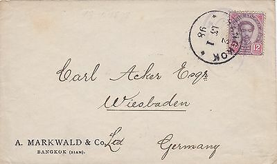 1898: letter from Bangkok to Germany/Wiesbaden
