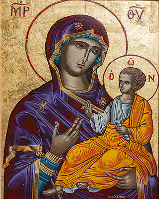 icon Virgin Mary Madonna Panagia Greek Christian Orthodox Catholic Byzantine