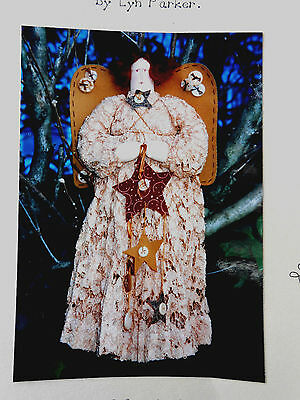 Pattern for Guardian Angel Drucillia Fabric Doll by Lyn Parker approx size 40cm