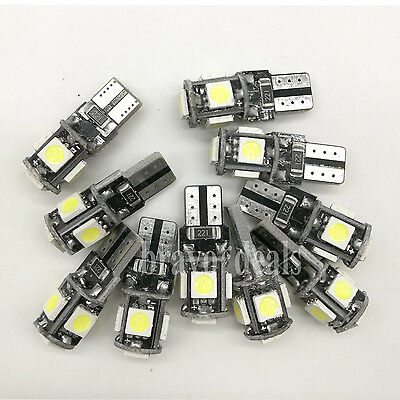 10 stk. T10 LED 5 SMD CANBUS Standlicht Auto Innenraum Glassockel  W5W Lampe