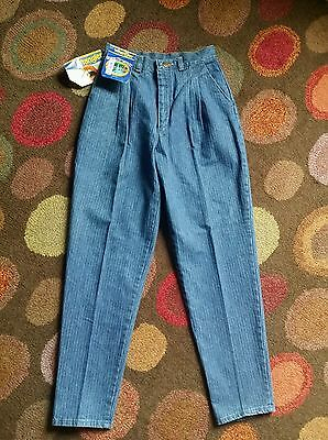 Vintage 1970's Deadstock Mom Wrangler Stonewashed Mountain Pegged Jeans,S 8-10""