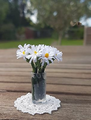 VASE OF DAISIES for 1:12th scale dollshouse miniature flowers florist UK SELLER
