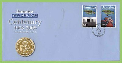 Jamaica 2008 Centenary of ABRSM  (music) set First Day Cover