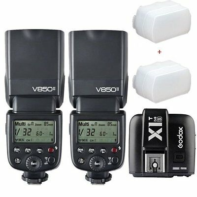 2*Godox V850II GN60 2.4G  HSS Camera Flash Speedlight + X1T-S  trigger for Sony