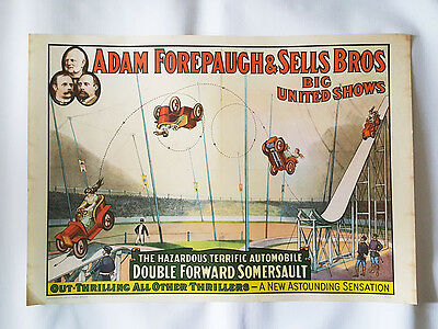Adam Forepaugh & Sells Brothers Big United Shows Reproduction Circus Poster