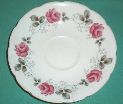 Shabby Chic, Sutherland/ saucer, rose pattern/bone china/British