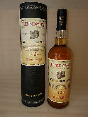 GLENMORANGIE 12 YEAR OLD GOLDEN RUM CASK FINISH MALT WHISKY 70cl 40%