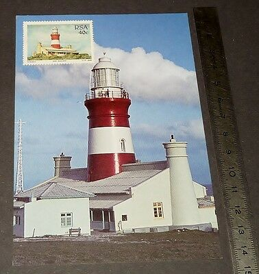 CPA 1er JOUR PHILATELIE 1988 PHARE AGULHAS AFRIQUE SUD LIGHTHOUSE SOUTH AFRICA