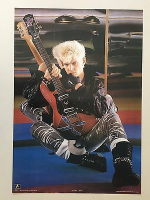 BILLY IDOL BY GUIDO HARARI, RARE AUTHENTIC 1980's POSTER