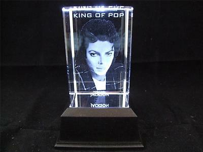 Solid Glass Crystal Laser Block and White Light Box - Michael Jackson.