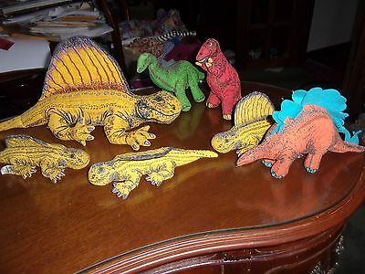 Lot of 9 Applause Determined Productions 1992 Dinosaurs Jurassic Park Lg Dimetro